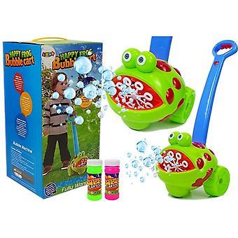 Bellenblaasmachine Kikker – Blauw handvat – Zeepbellenmachine kind