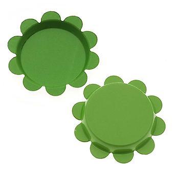 Final Sale - New Green Apple Flower Bottle Caps Craft Scrapbook Jewelry No Liners 25mm (24)
