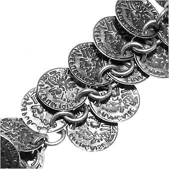Charmiketju, 10mm muinainen kolikko charmi, antiikki hopea päällystetty, tuuman