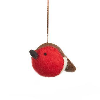 Felt Sweetheart Robin Hanging Decoration