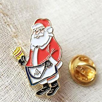 1'' Vapaamuurari mestari esiliina lapel pin joulupukki joulu