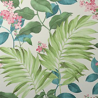 Eden Tropical Green Wallpaper