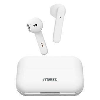Streetz, TWS Headphones with Charging Case - White