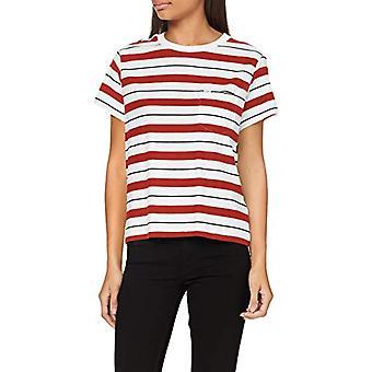 Lee avslappnad ficka tee T-shirt, röd ockra, XS kvinna