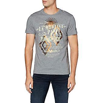 La Martina Man Tshirt S/S Jersey T-Shirt, Medium Heather Grey, M Men