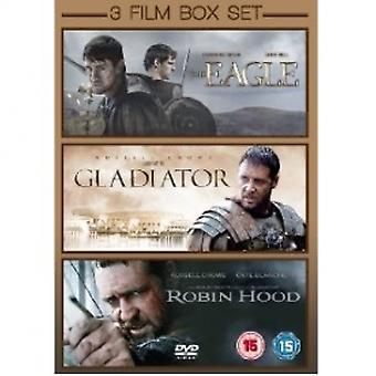 The Eagle / Gladiator / Robin Hood 3 Film Box Set DVD