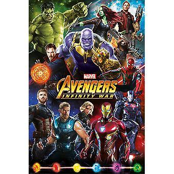 Avengers: Infinity War - Figurer Maxi Plakat