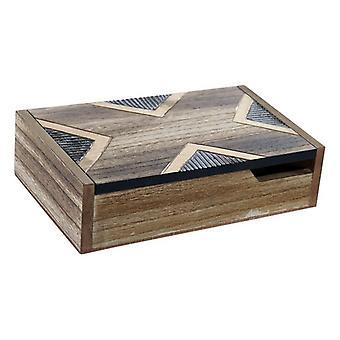 Korulaatikko DKD Home Decor Kente Wood Colonial (20 x 12 x 5 cm)