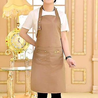 Pure Color Cooking Kitchen Canvas Apron