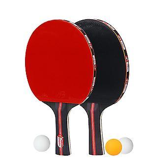 Pöytätennis maila vaakasuora puku laukaus aloittelija koulutus pingis lauta pöytä tennis maila asettaa kaksi laukausta kolme palloa