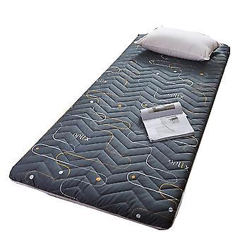 Dark gray 150*200cm thick non-slip foldable mattress breathable comfortable elastic mattress homi3848
