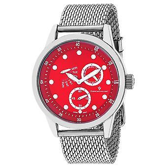 Christian Van Sant Men's Rio Red Dial Watch - CV8716