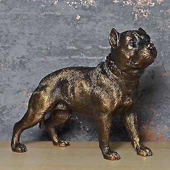 Pitbull Terrier Bronse Effekt Skulptur 20cm