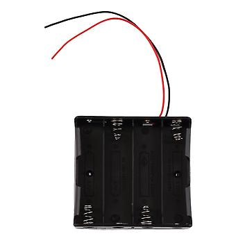 Plastic Battery Storage Case Box Holder For 4 X 18650 3.7v With Wire Leads