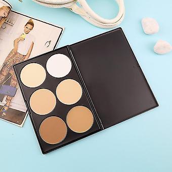 Nouveau cosmétique professionnel 6 couleur visage pressé poudre palette maquillage