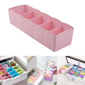 Fem gitre Multifunktion undertøj sokker små ting opbevaringsboks plast efterbehandling box skuffe skrivebord