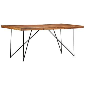 طاولة طعام vidaXL 180 × 90 × 76 سم سنط الخشب الصلب
