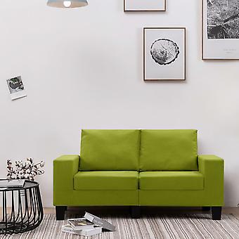 vidaXL 2-paikkainen sohva vihreä kangas
