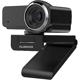 Full HD 1080p Webcam with microphone, AW635 Plug & Play Manual Focus USB Streaming Web Camera,