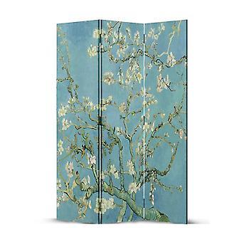 Fine Asianliving Room Divider Privacy Screen 3 Panele W120xH180cm Van Gogh Kwiaty migdałów