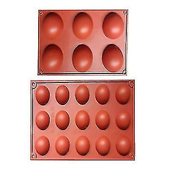 Large 6-cavity Semi Sphere Silicone Mold, Reusable,2 Packs Baking Mold For Making Hot Chocolate