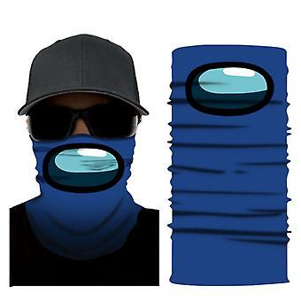 (כחול) בינינו משחק רב שימוש מסכת פנים Balaclava צעיף סנוד צוואר חם בנדנה