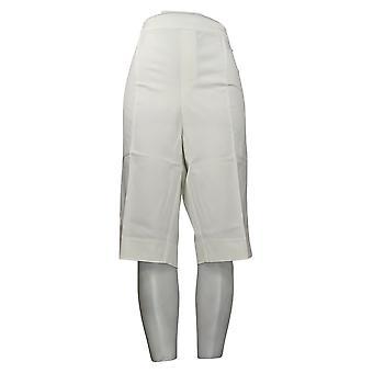 Isaac Mizrahi Live! Damen Petite Hose Pedal Pushers Weiß A377473