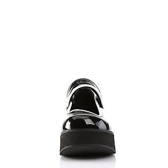 Demonia Femmes & chaussures SPRITE-01 Blk-Wht Pat