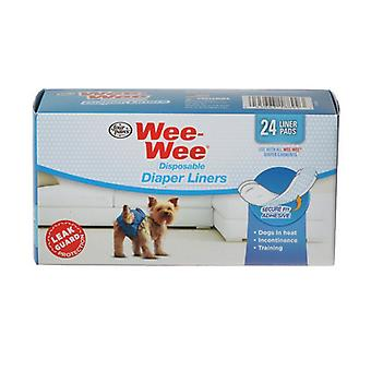 Четыре лапы Wee Wee Подгузники Для одежды - 24 подушечки