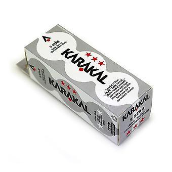 Karakal 3 Star pöytä Tennis 40mm Poly turnaus pallot pakkaus 12-valkoinen