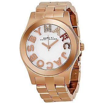 Marc Av Marc Jacobs Rivera Rose Gold Ion-belagt Unisex Watch MBM3138