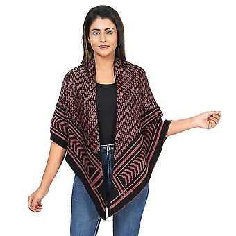 Jacquard stricken Kimono L: 100m, B: 100cm - Grau, Schwarz und Sandstein Farbe
