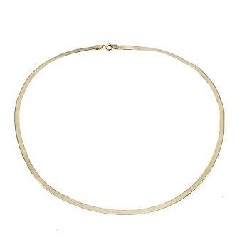 TJC 9K Gelbgold Fischgrät Kette Halskette für Frauen 18 '' in glänzendem Finish