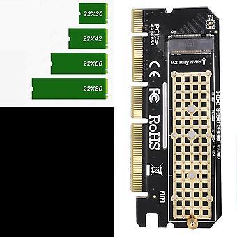 新着アルミニウム合金シェルは、Pcie 3.0 X16に拡張カードコンピュータアダプタインターフェイスM.2 Nvme Ssdを導いた
