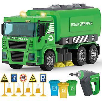 Construction Crane Truck - 104 Pcs Friction Power Stem Toys Take Apart Toy