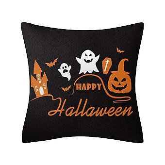 1pack Halloween Taie d'oreiller Joyeux Halloween Linge Canapé-lit Jeter coussin Housse