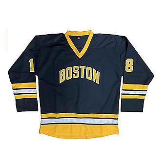 Happy Gilmore #18 Boston Adam Sandler 1996 Film Hockey sur glace Jersey Mens S-xxxl Cousu