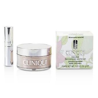Clinique blandet ansigt pulver + børste - nr. 08 gennemsigtighed Neutral - 35g / 1,2 oz