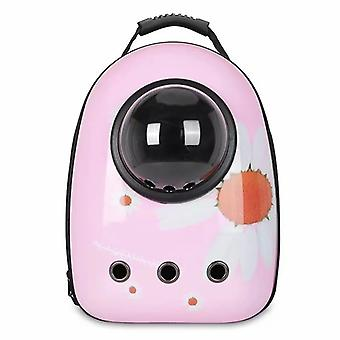 Pink Daisy Portable Pet Backpack