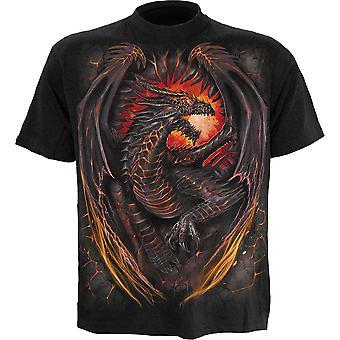 スパイラル ドラゴン炉 t シャツ