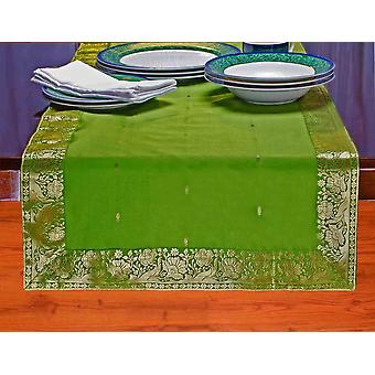 Verde bosco - mano artigianale Table Runner (India)
