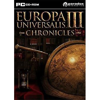 Europa Universalis Chronicles III Complete PC CD Game