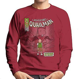 Quailman No More Doug Comic Superhero Men's Sweatshirt