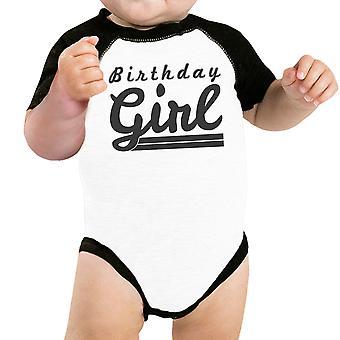 Baby Girl Baseball Body manica nera carina Baby Raglan Tee regali