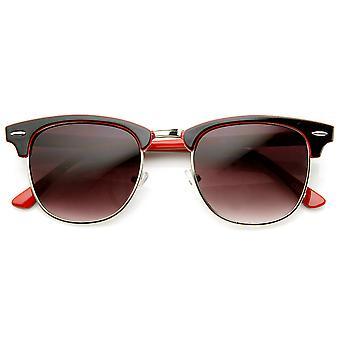 نغمتين الملونة الكلاسيكية الإطار نصف القرن انعقدت النظارات الشمسية
