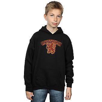 Harry Potter muchachos Gryffindor deporte emblema sudadera con capucha