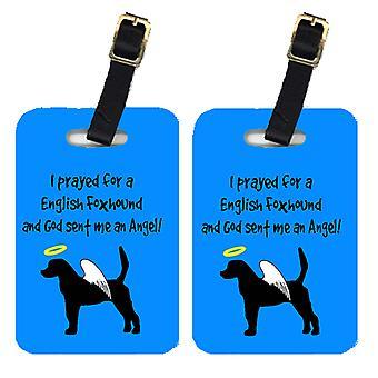 Carolines Treasures  AN1027BT Pair of 2 English Foxhound Luggage Tags