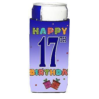 Glad 17 födelsedag Ultra dryck isolatorer för slim burkar