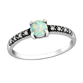 Solitaire - 925 Sterling Silver Jewelled Rings - W32313X