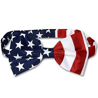 Amerikanska flaggan mäns fluga USA patriotiska BOWTIE